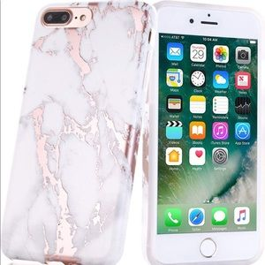 Accessories - Rose Gold Marble IPhone 7/8 Plus Case
